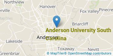 Location of Anderson University South Carolina