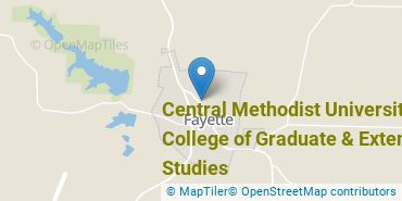 Location of Central Methodist University - College of Graduate & Extended Studies