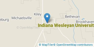 Location of Indiana Wesleyan University