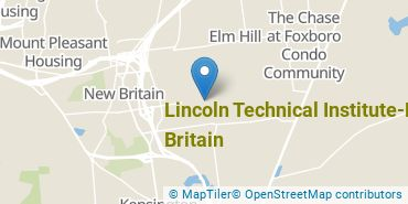 Location of Lincoln Technical Institute - New Britain