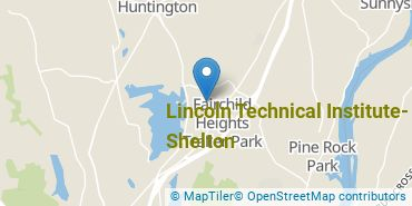 Location of Lincoln Technical Institute - Shelton