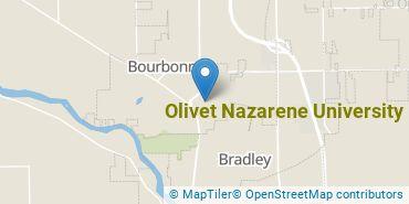 Location of Olivet Nazarene University