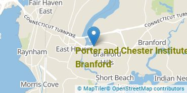 Location of Porter and Chester Institute of Branford