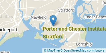 Location of Porter and Chester Institute of Stratford
