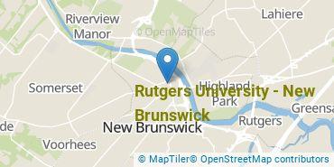 Location of Rutgers University - New Brunswick