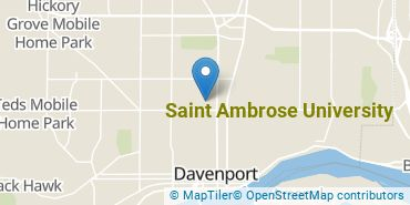Location of Saint Ambrose University