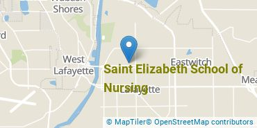 Location of Saint Elizabeth School of Nursing