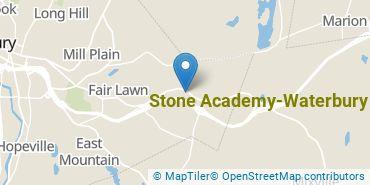 Location of Stone Academy-Waterbury