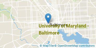 Location of University of Maryland - Baltimore