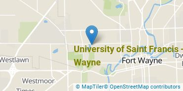 Location of University of Saint Francis - Fort Wayne
