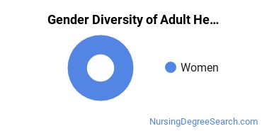Adult Health Nursing Majors in WI Gender Diversity Statistics