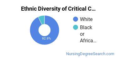 Critical Care Nursing Majors in IA Ethnic Diversity Statistics