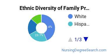 Family Practice Nursing Majors in CA Ethnic Diversity Statistics