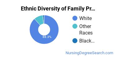 Family Practice Nursing Majors in CO Ethnic Diversity Statistics
