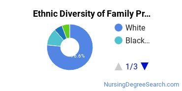 Family Practice Nursing Majors in IN Ethnic Diversity Statistics