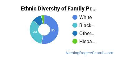 Family Practice Nursing Majors in LA Ethnic Diversity Statistics