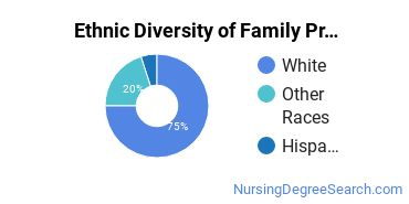 Family Practice Nursing Majors in MT Ethnic Diversity Statistics