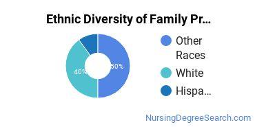 Family Practice Nursing Majors in OK Ethnic Diversity Statistics