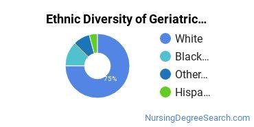 Geriatric Nursing Majors in IA Ethnic Diversity Statistics