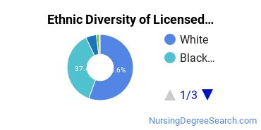 Licensed Practical Nursing Majors in GA Ethnic Diversity Statistics