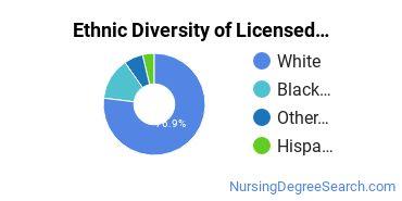 Licensed Practical Nursing Majors in IN Ethnic Diversity Statistics