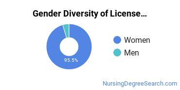 Licensed Practical Nursing Majors in MT Gender Diversity Statistics