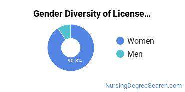 Licensed Practical Nursing Majors in NE Gender Diversity Statistics