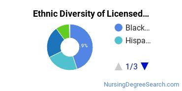 Licensed Practical Nursing Majors in NJ Ethnic Diversity Statistics