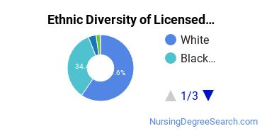 Licensed Practical Nursing Majors in OH Ethnic Diversity Statistics