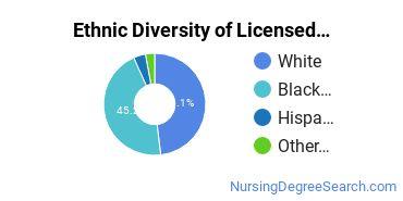 Licensed Practical Nursing Majors in SC Ethnic Diversity Statistics