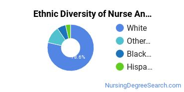 Nurse Anesthetist Majors in MO Ethnic Diversity Statistics