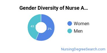 Nurse Anesthetist Majors in PA Gender Diversity Statistics