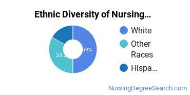 Nurse Midwifery Majors in OR Ethnic Diversity Statistics