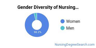 Nursing Administration Majors in MA Gender Diversity Statistics