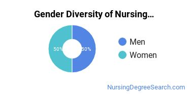Nursing Education Majors in DC Gender Diversity Statistics