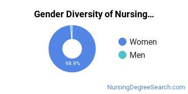 Nursing Education Majors in PA Gender Diversity Statistics